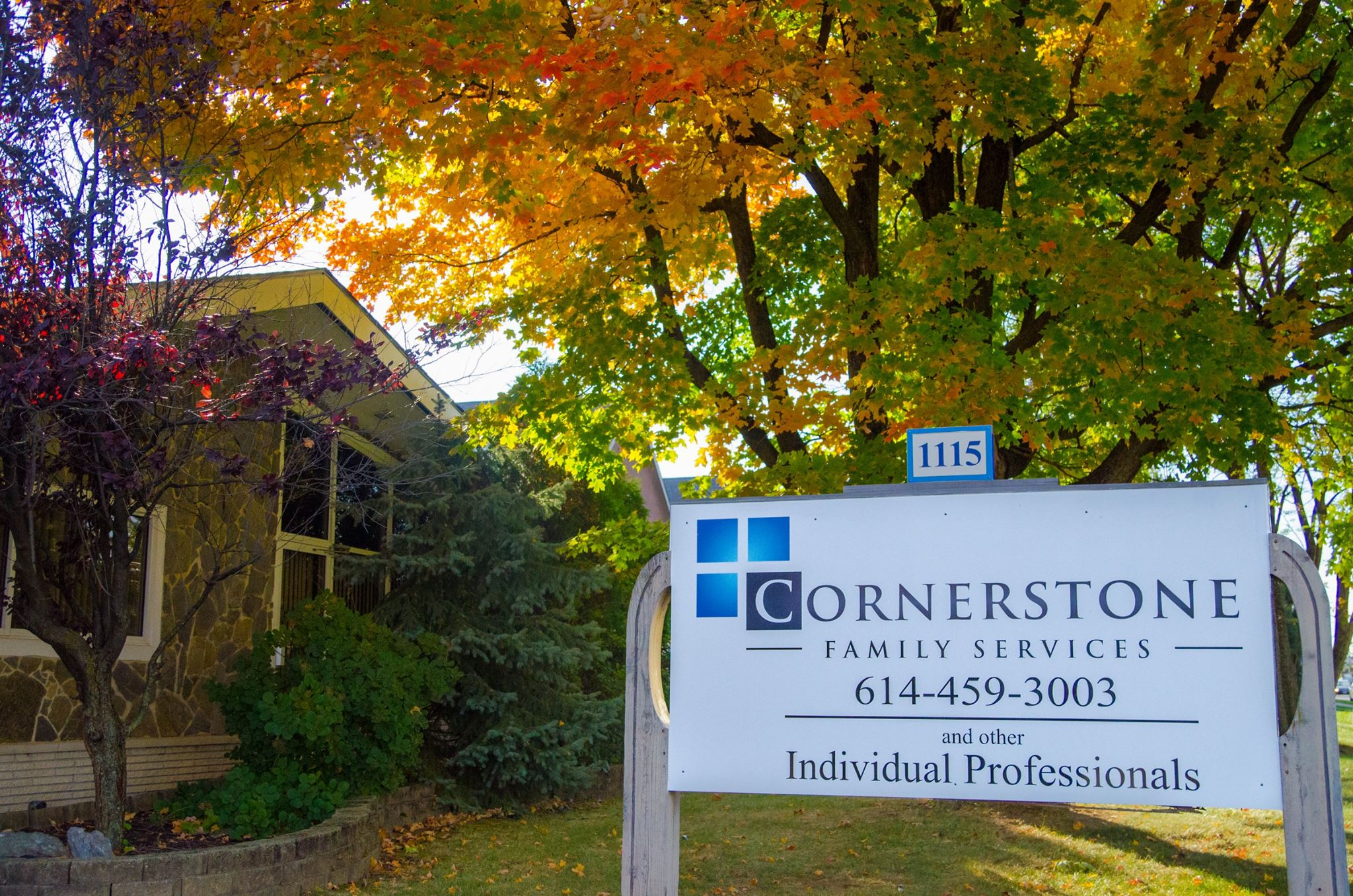 cornerstone family services christian counseling sign