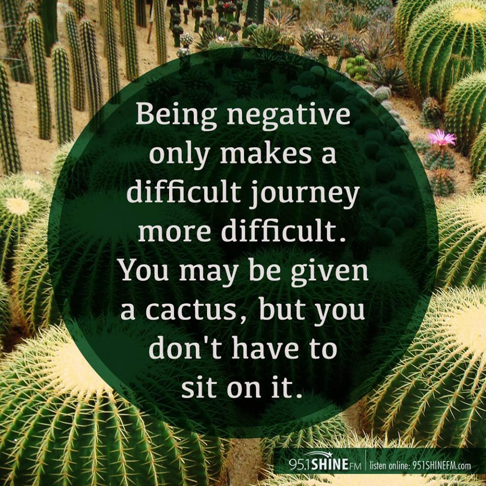 being negative