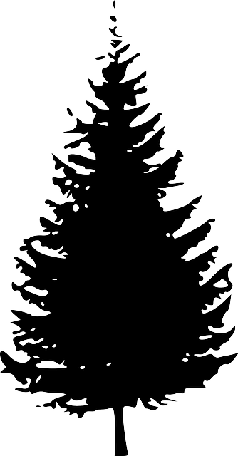 dark christmas tree