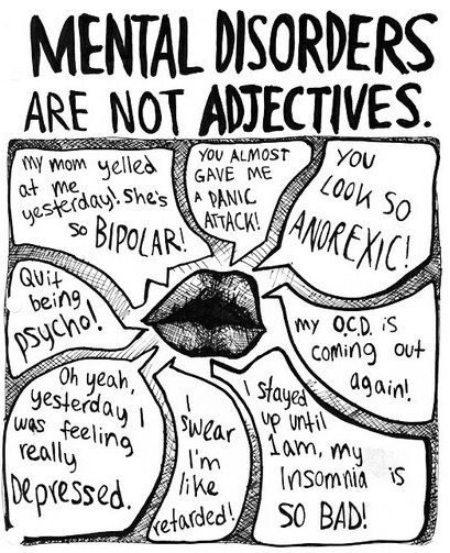 Mental Disorders not adjectives