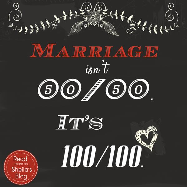 Marriage is 100-100