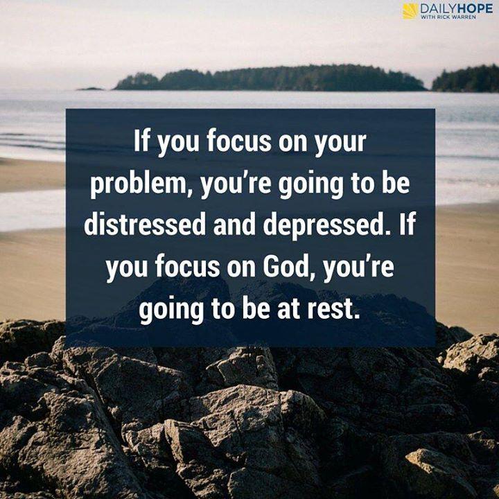 focus on God