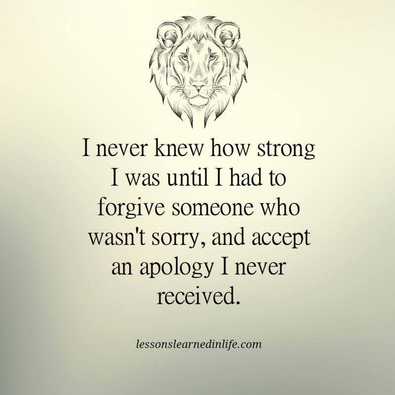 forgiveness lion