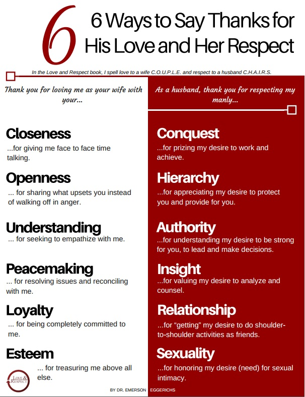 6 Ways to Appreciate Love and Respect